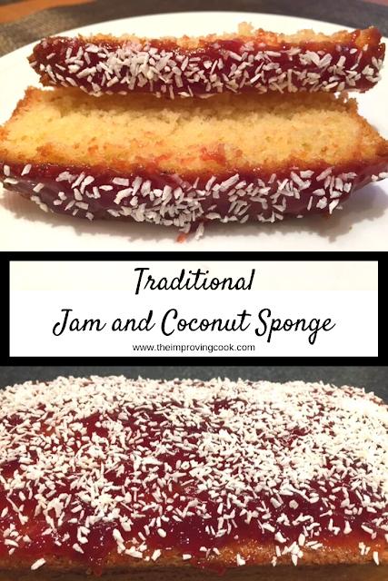 Traditional Jam and Coconut Sponge