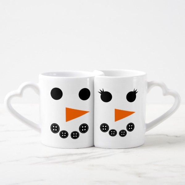 Him and Her Snowman Christmas Coffee Mug Set | Zazzle.com