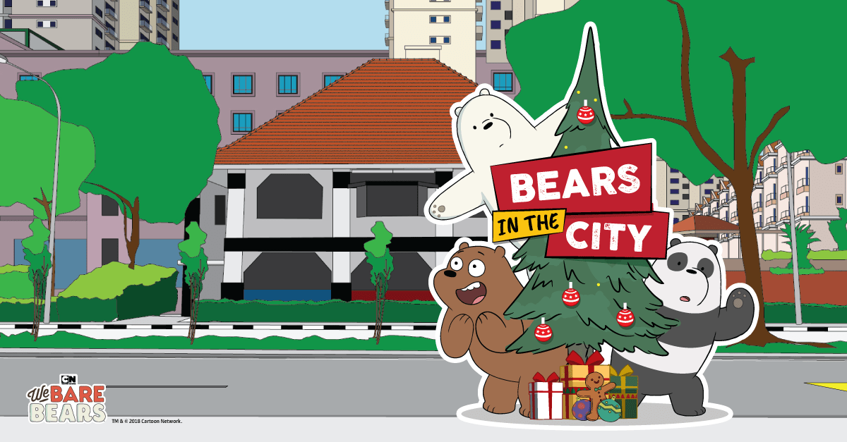 Look Out For Bears In The City This Christmas We Bare Bears Are Hitting Sunny Singapore This Season So Follow Their Adventures In Our Instagram Contest And St