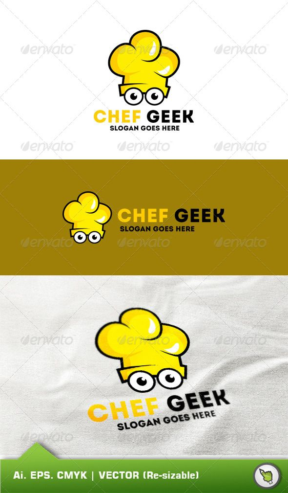 Logo Chef Geek Template Template, Logos and Logo templates - chef templates