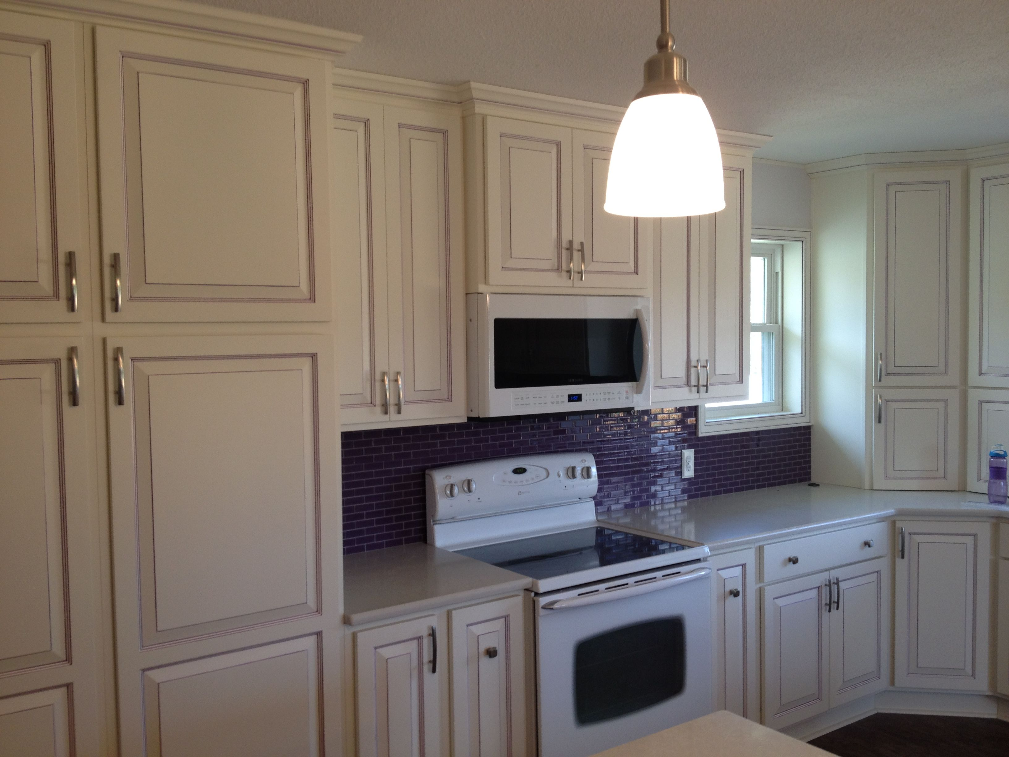 Custom Purple Glazing Accents On This Kitchen. Learn More: Builder  Preferred Cabinetry Serving Wichita
