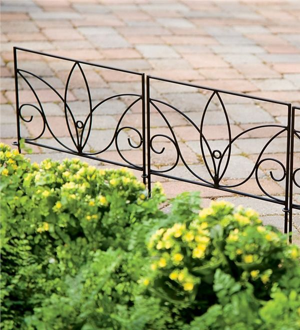 Perfect Wrought Iron Edging That S Easy To Install For Any Flower