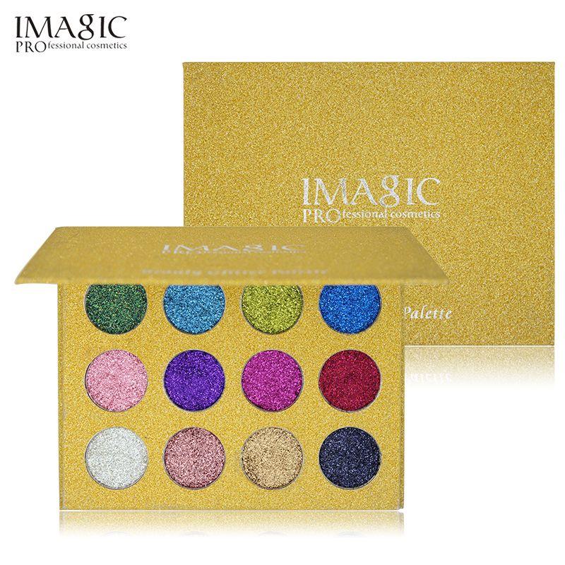 IMAGIC Glitter Eyeshadow Make Up Cosmetic Palette