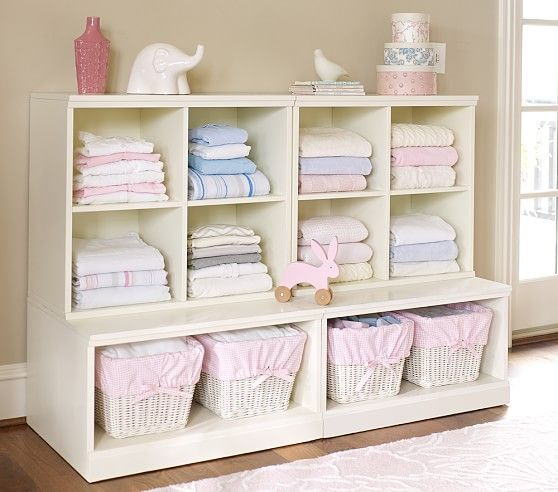 Cameron Pottery Barn Kids Playroom: Cameron 2 Cubby & 2 Open Base Storage System