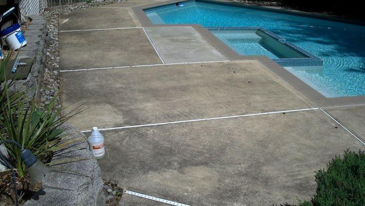Pool deck with black mildew & dirt Deck sealing, Pool