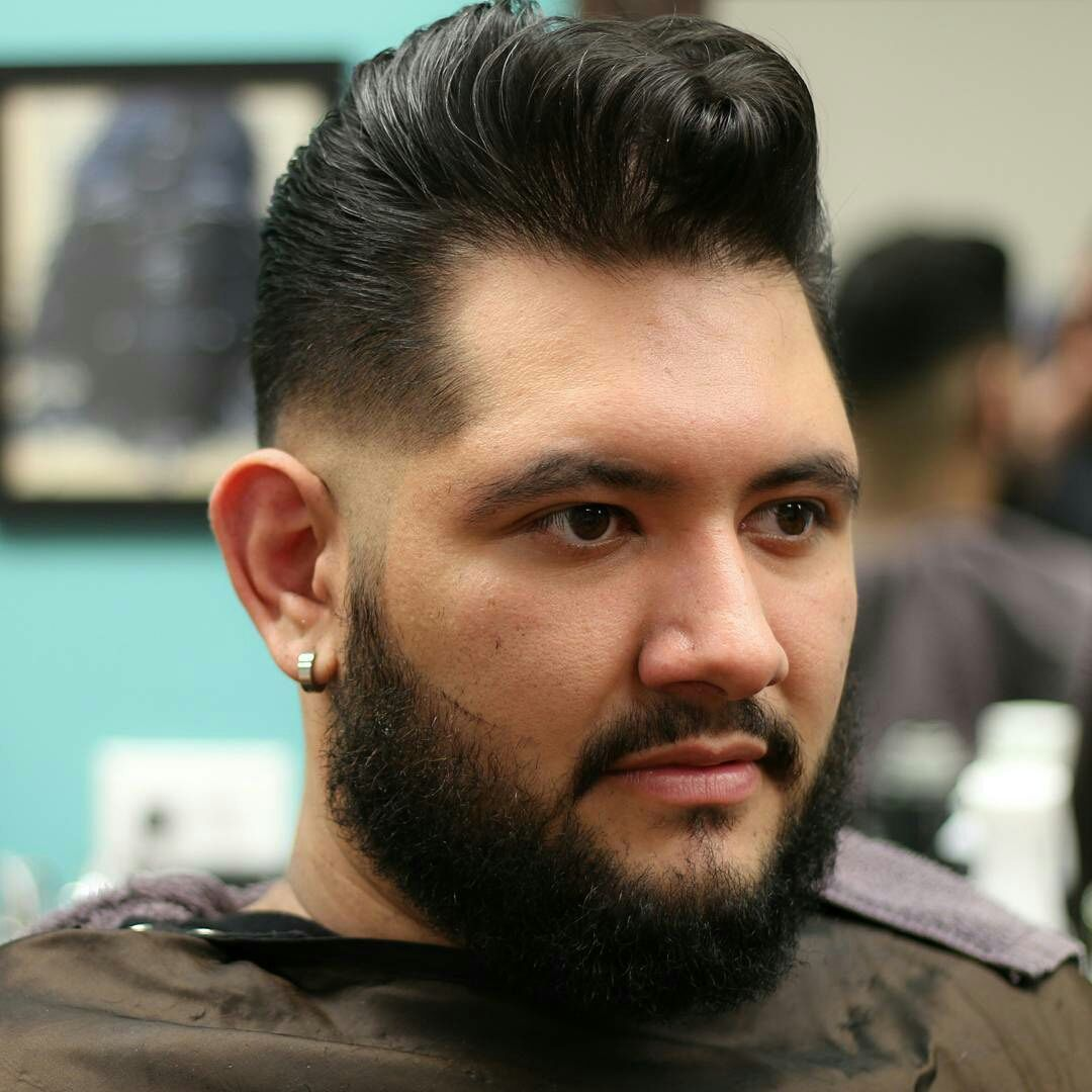 Nice pomp haircut by @_darth_fader Styled with Layrite Original