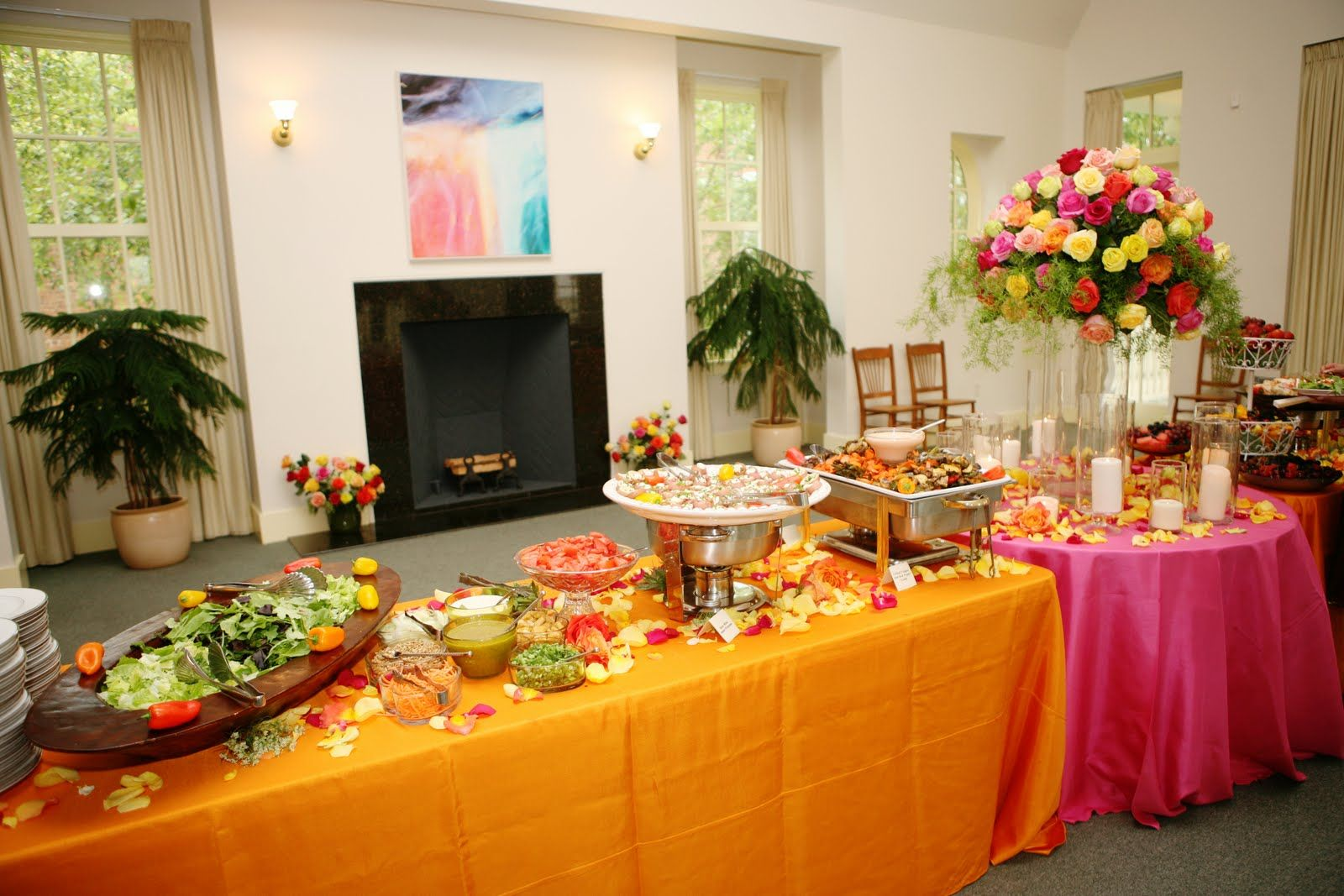 Buffet Table Display Campy Wedding Style Table And
