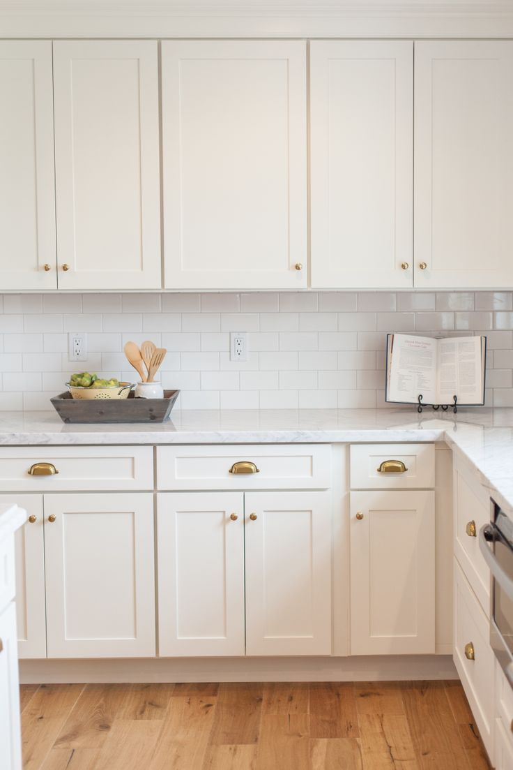 white shaker kitchen cabinets hardware | kitchen layout | Pinterest ...