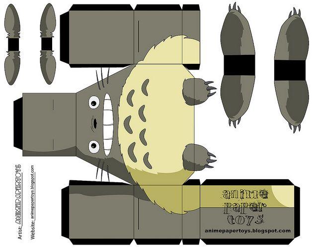 Totoro Papertoys Totoro Бумажные игрушки Тоторо и