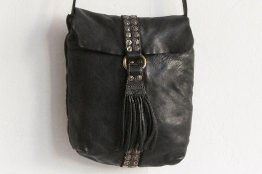 Lost & Found / campomaggi leather handbag black