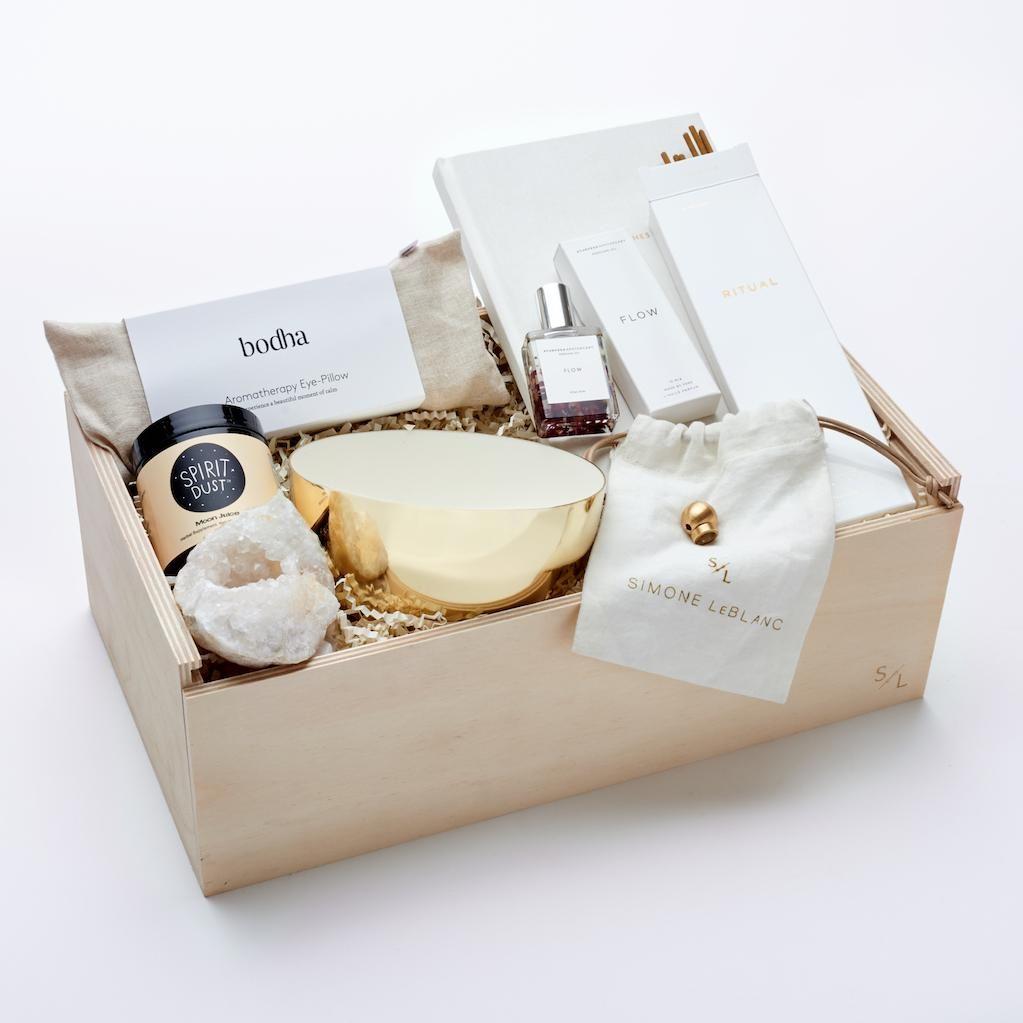 Mind body spirit deluxe gift baskets for women gift