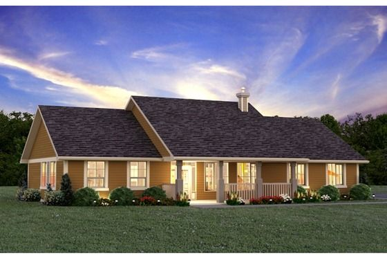 Ranch Style House Plan 3 Beds 2 Baths 1924 Sq Ft Plan 427 6 Ranch Style House Plans Country House Plans Ranch Style Homes