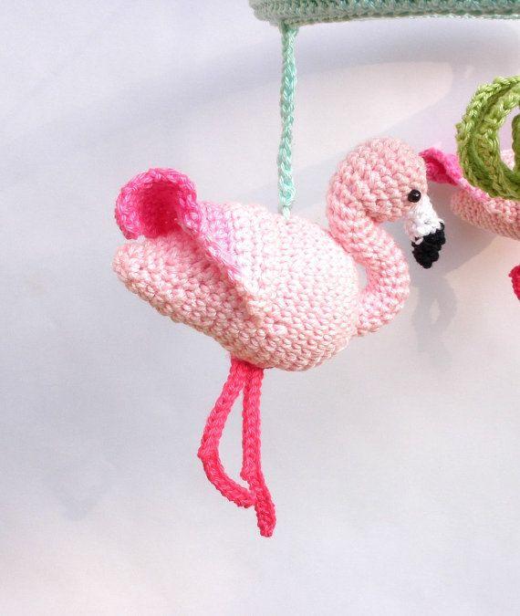 Rosa Flamingo Baby Mädchen Kinderzimmer mobile, tropischen