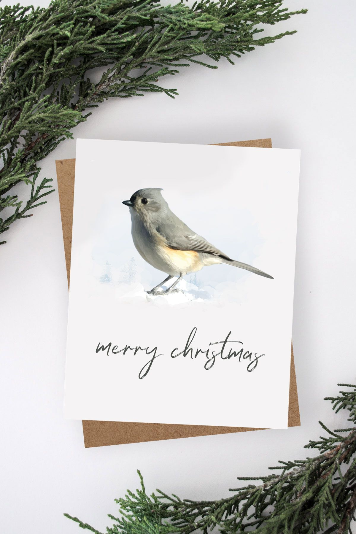 Free Printable Watercolour Bird Christmas Card Free Printable