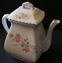 Sampson Bridgwood & Son Polychrome Transfer-Ware Decorated Coffee Pot - Pattern #656