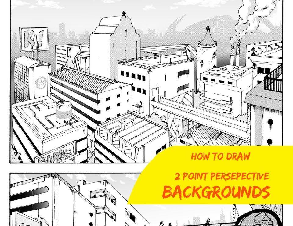 How To Draw Manga Backgrounds Shonen Ep 2 Manga Drawing Drawings Manga