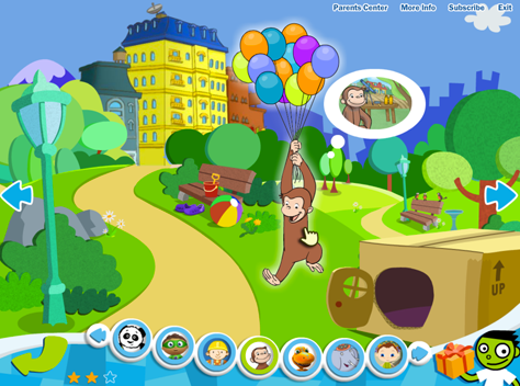 Graphic styling in Curious by PBS Kids Play