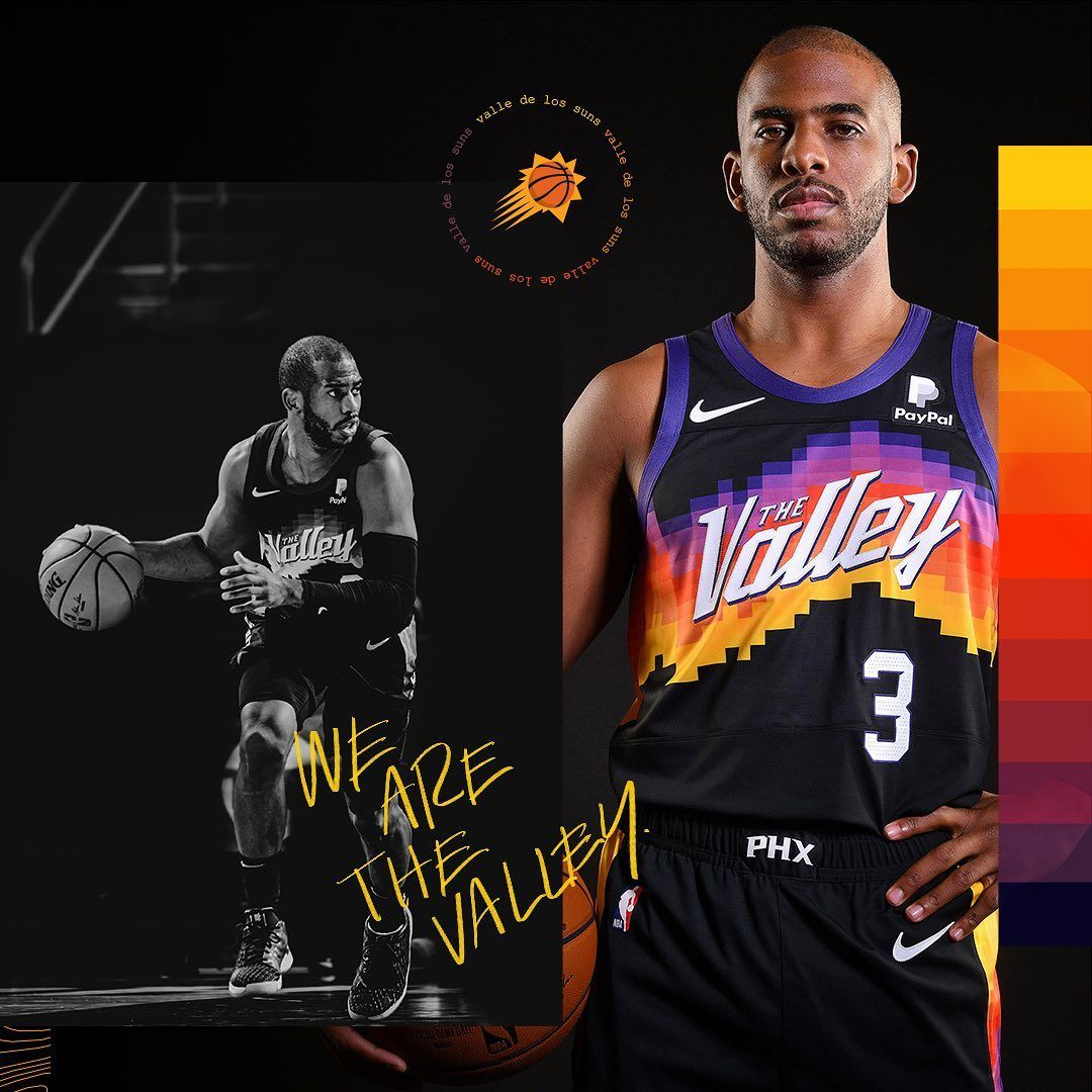 17 5k Likes 111 Comments Phoenix Suns Suns On Instagram Repping The Valley Tonight Wearethevalley Lacli In 2021 Chris Paul Jersey Chris Paul John Stockton