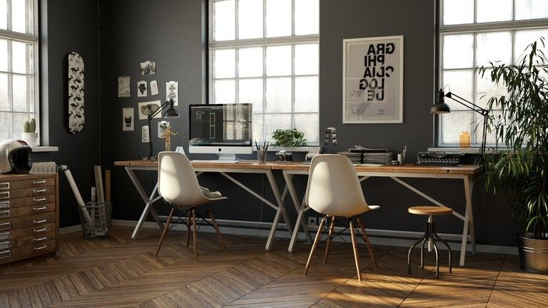 20 Elegant Industrial Style Home Offices That Sport Beautiful