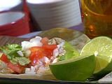 Grilled Fish Tacos with a Roasted Chile and Avocado Salsa