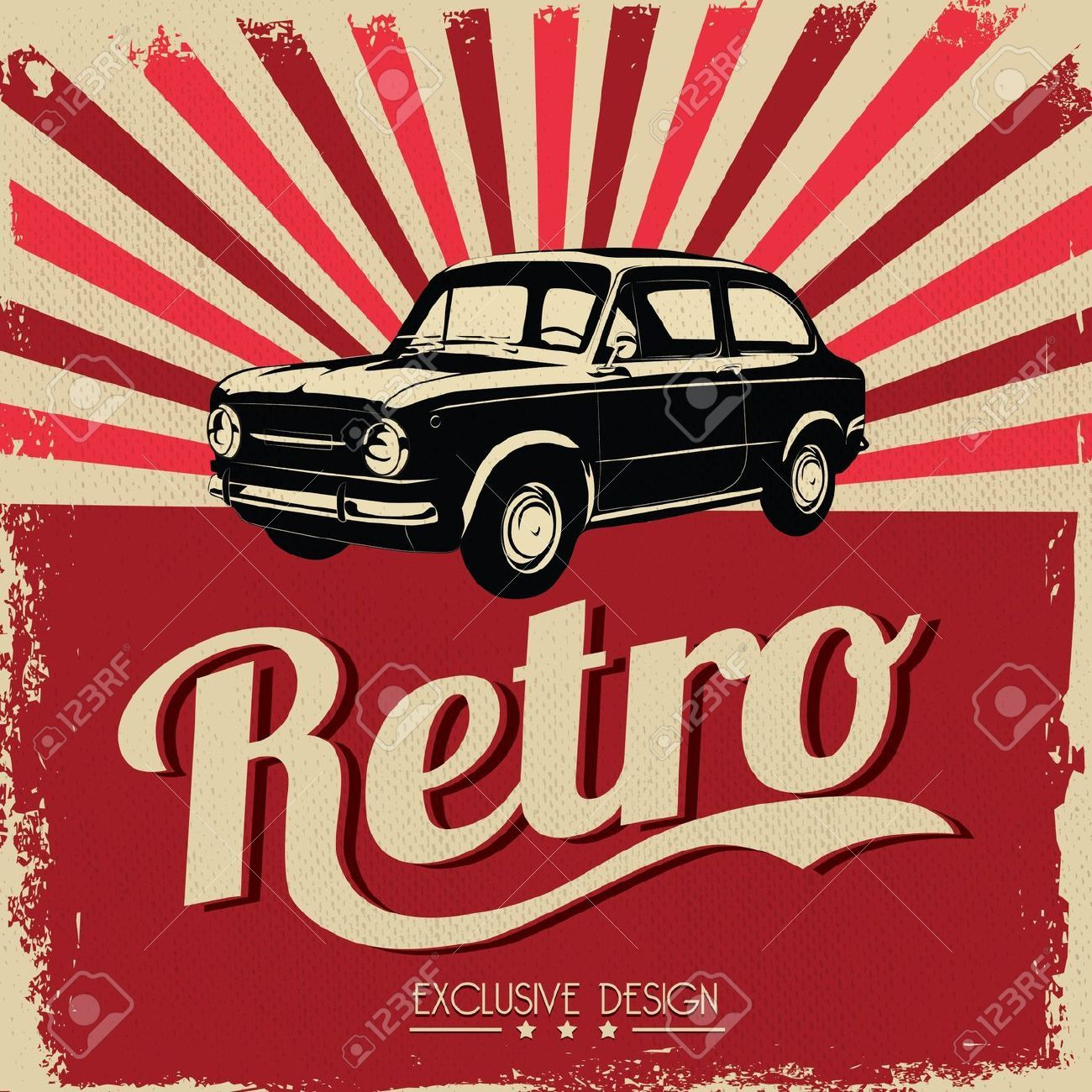 Vintage Car Design Flyer - Grungy Style Royalty Free Cliparts ...