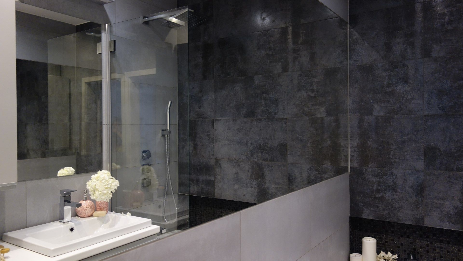 Szara łazienka Bathroom Grey Interior Interiordesign