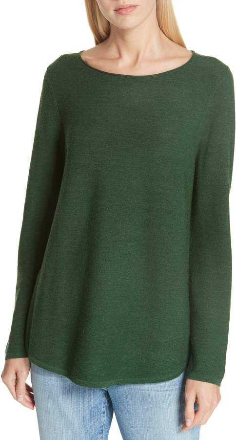 Eileen Fisher Ballet Neck Fine Gauge Merino Tunic Sweater Products