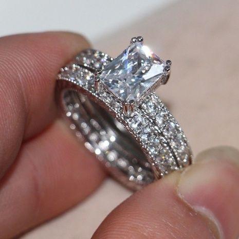 Diamonique Wedding Rings Sets