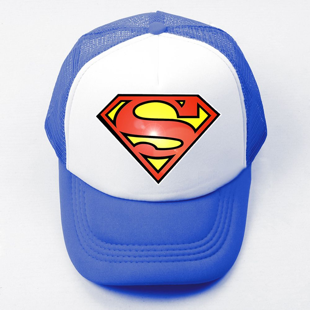 22fbfd4608a Summer Casual Children Boy Girl Baseball Caps DC Comics Superman Kal-El  Clark Kent Superman