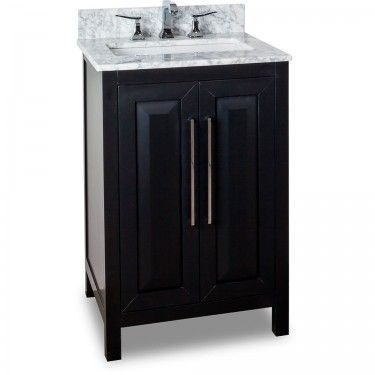 Beau 24 Inch Bathroom Vanity Black Finish Carrera White Marble Countertop, This  Cabinet Comes With An Adjustable Shelf. The Cabinet Is Fitted With Soft  Close ...