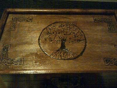 Wood Burned Celtic Tree of Life Jewelry Box For the Home