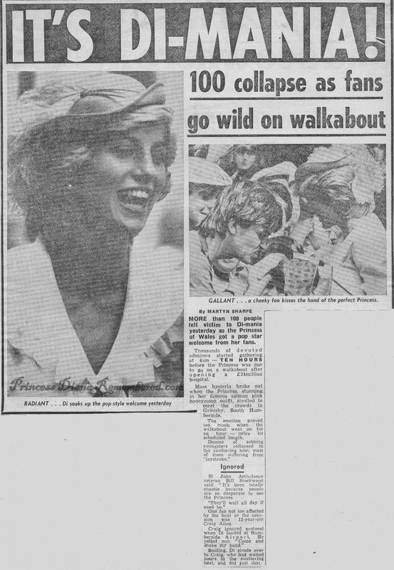 Memories Of Diana - Visiting Grimsby to open its new District General Hospital - July 26th 1983