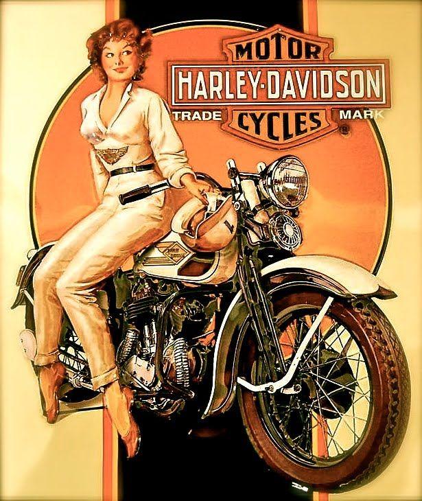 Vintage Harley Davidson Poster Harley Davidson Motocicletas Motos Autos Y Motocicletas