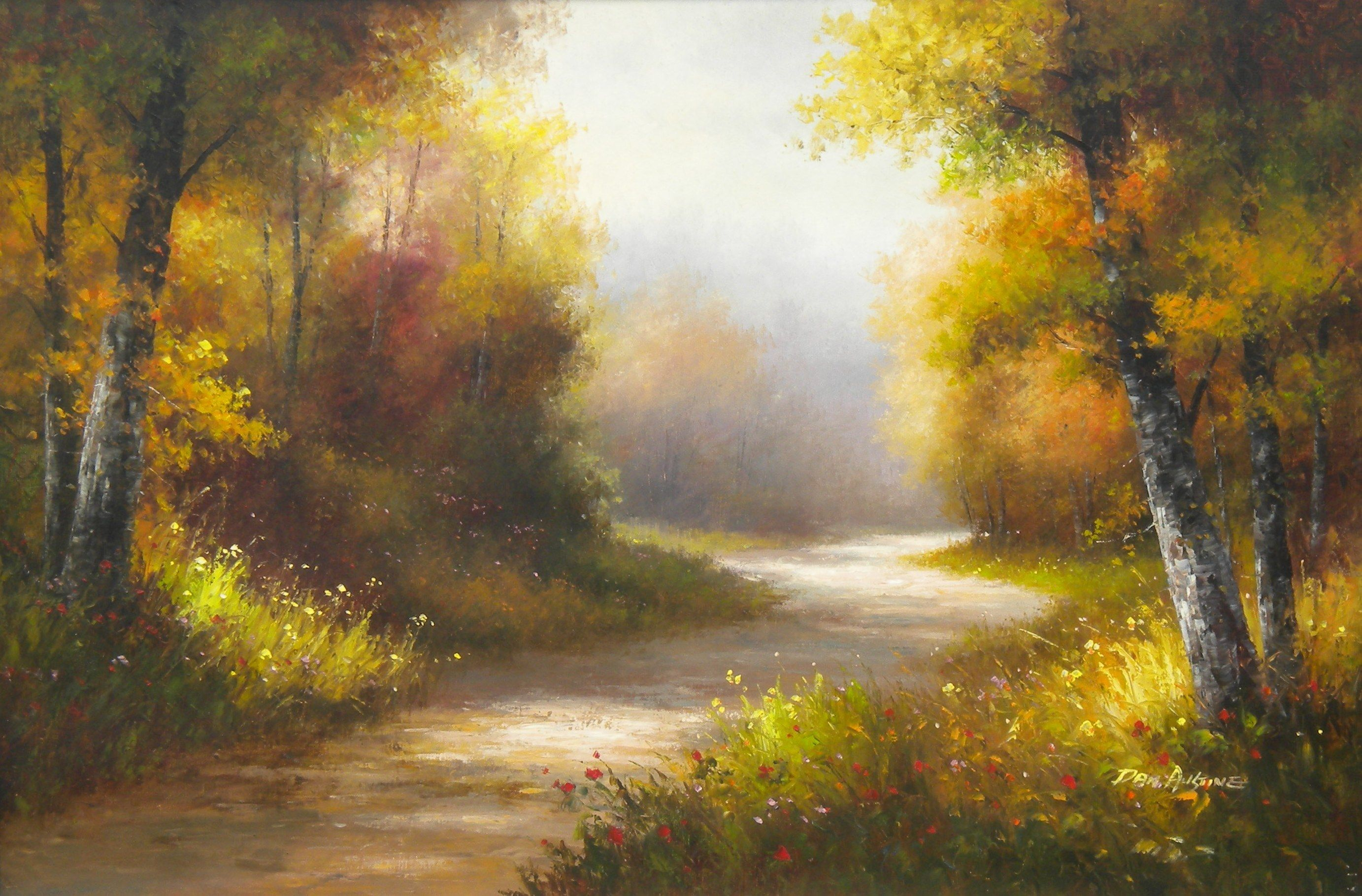 Nature Paintings | Art | Pinterest | Easy acrylic ... Nature Painting Wallpaper Hd