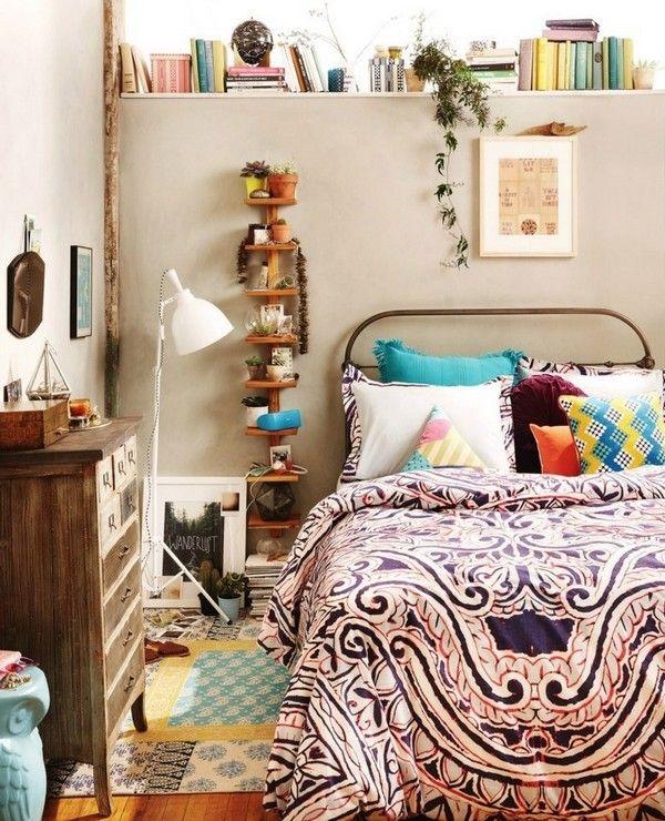 une chambre boh me a bohemian bedroom id es deco chambre maison chambre et mobilier de salon. Black Bedroom Furniture Sets. Home Design Ideas