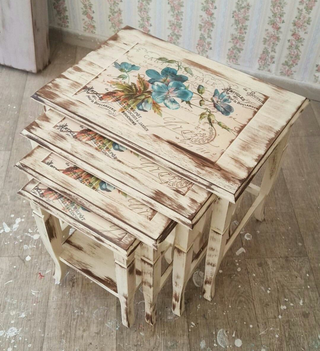 Incroyable Handmade Furniture, Decoupage Furniture, Painted Furniture, Decoupage Art, Decoupage  Ideas, Furniture Makeover, Wood Paintings, Kaftan, Interiors