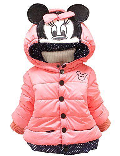 Kinder Baby Mädchen Micky Maus Winter Hoodie Jacke Mantel Pullover Winterjacke