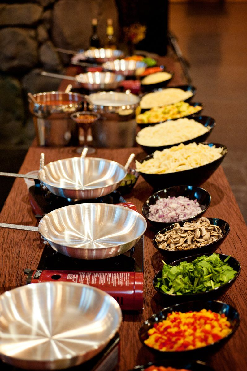 Our chefs will work their magic right in front of you with for Food bar ideas