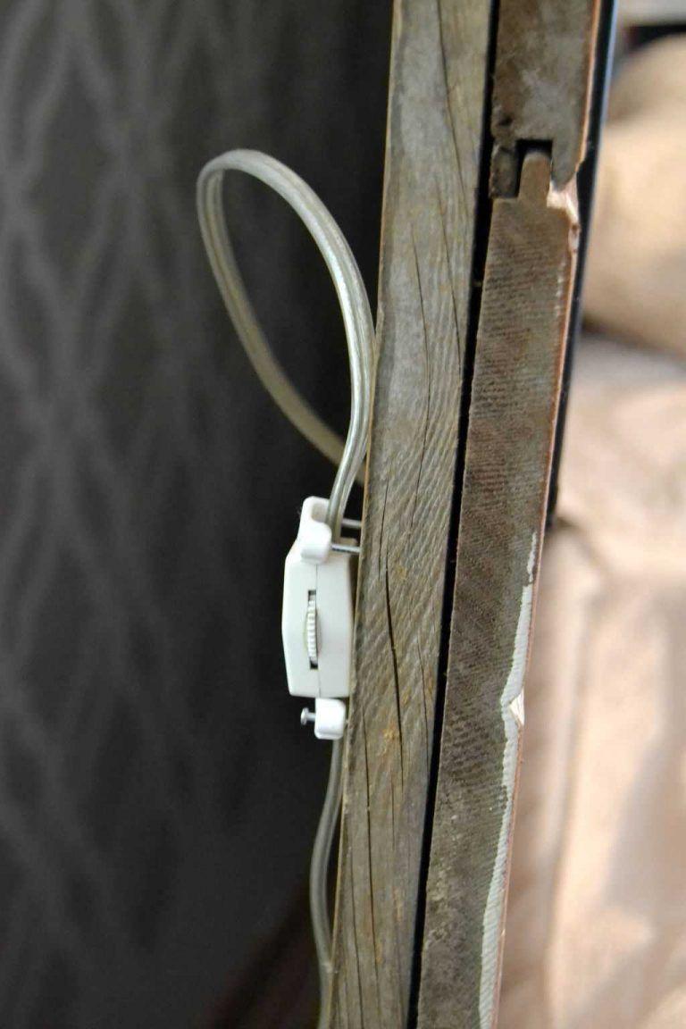 Diy plug in wall sconce for headboard plug in wall