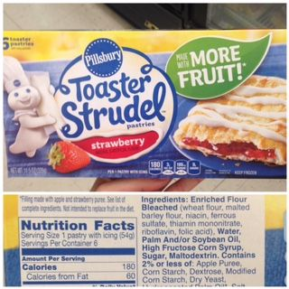 """Toaster strudel with """"more fruit"""" now brings the grand fruit total to """"2"""