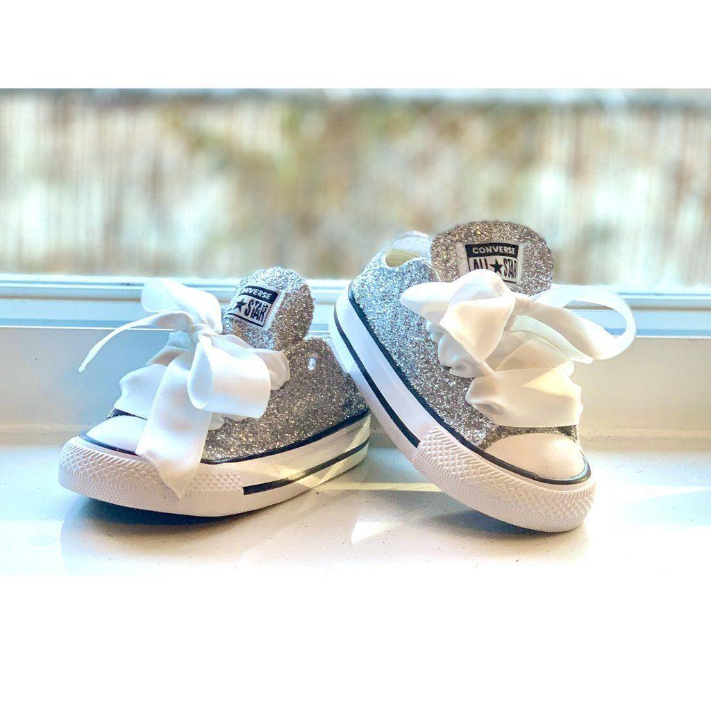 Girls Toddler Sparkly Glitter Converse