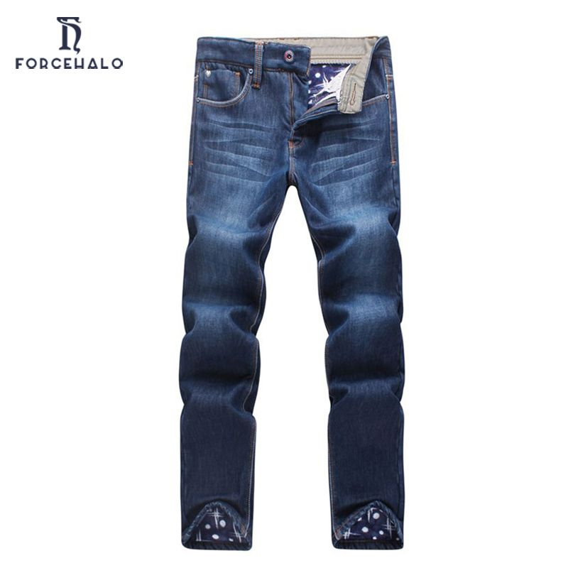 (Buy here: http://appdeal.ru/2buo ) 2016 New Brand Winter Jeans Men Casual Cotton Mens Denim Pants Slim Fit Thickening Men Long Trousers High Quality for just US $32.11