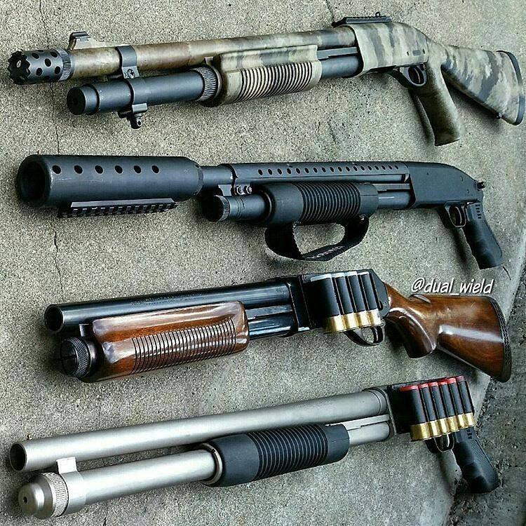 shotguns for days no matter the set up it still depends on you