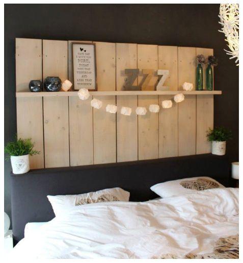 Wanbord Boven Bed Bed Decoratie Slaapkamer Slaapkamer Ideeen