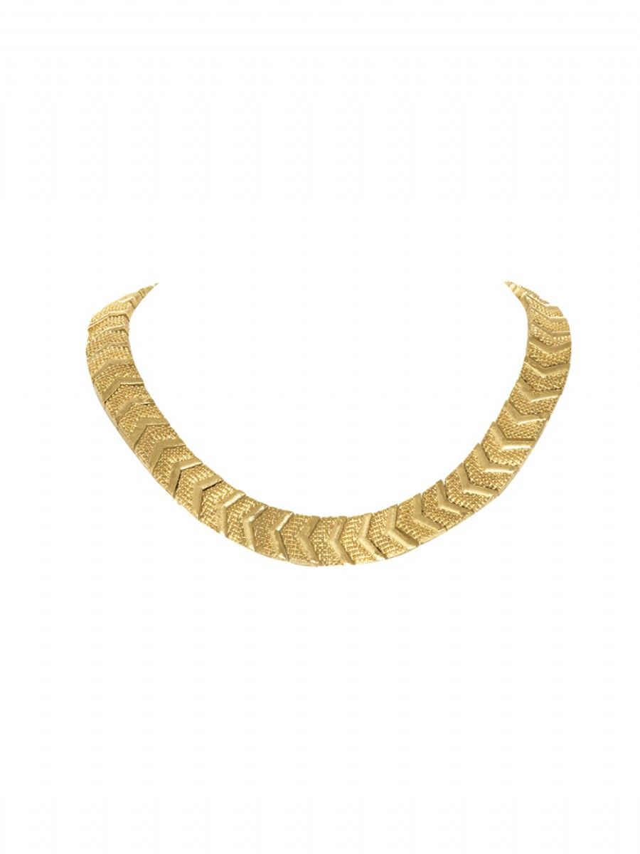Sidewinding Collar Necklace in gold