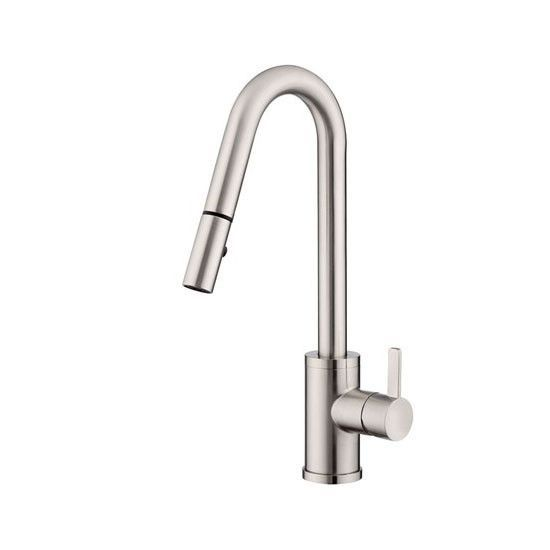 Danze D457030SS Stainless Steel Amalfi Pullout Spray Kitchen Faucet with 360 Degree Swivel and SnapBack Technology
