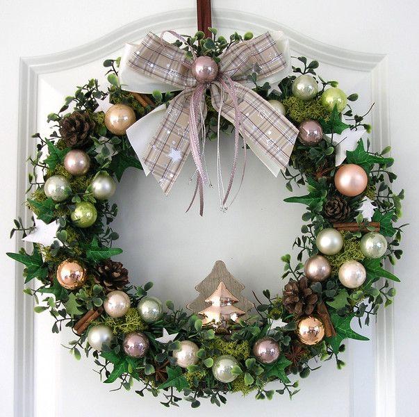 weihnachtskranz t rkranz weihnachten adventskranz von my. Black Bedroom Furniture Sets. Home Design Ideas