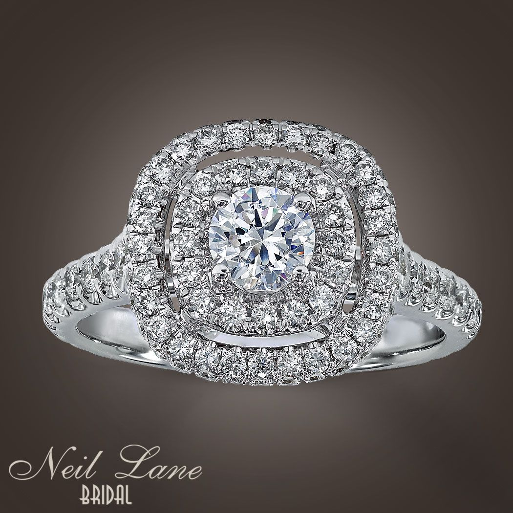 neil lane double halo engagement rings Neil Lane Bridal