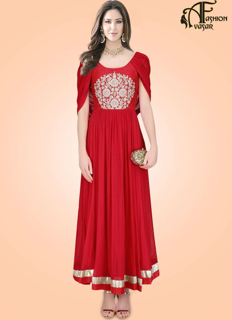Red Gown Online Shopping India | gown | Pinterest | Gowns online ...