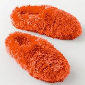 b25534f6fb841 Fuzzy Slippers | Everything Orange | Slippers, Bedroom slippers ...